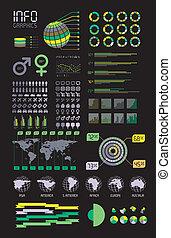 infographic, vettore, dettaglio, illustration.