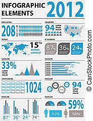 infographic, vettore, dettaglio