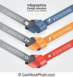 infographic, vettore, disegno, template., illustrazione