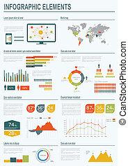 infographic, vettore, illustration.