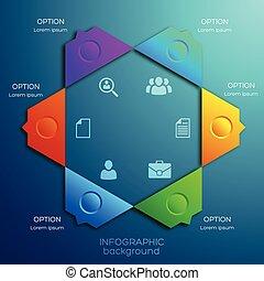 infographic, web, abstraktes konzept, design