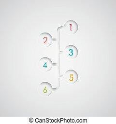 infographic, web, set, abstract, papier, vector, afdrukken, 3d, of, communie, design.