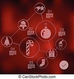 infographic, weihnachten, hintergrund, unfocused