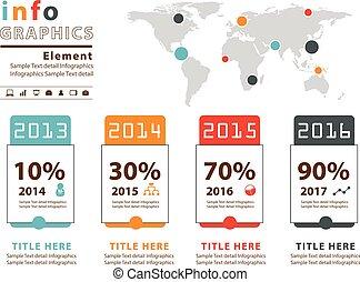 infographic, wektor, projektować, przeźroczysty, szablon