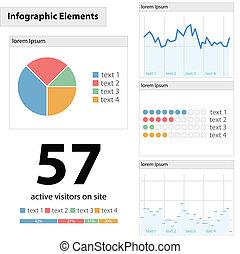 infographic, wektor, szczegół, ilustracja