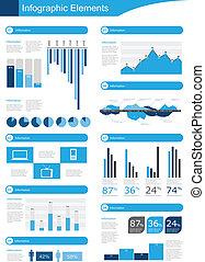 infographic, wektor, szczegół
