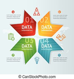 Infographic with Arrow. Vector