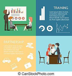 Infographic with business people