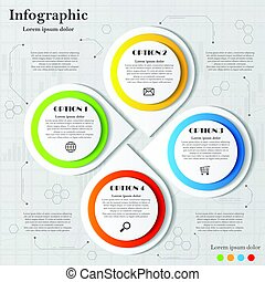 Infographic with four elements