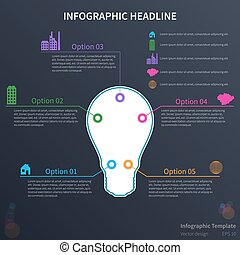 Infographic with lightbulb
