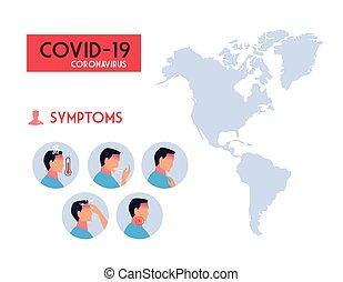 infographic with symptoms of coronavirus