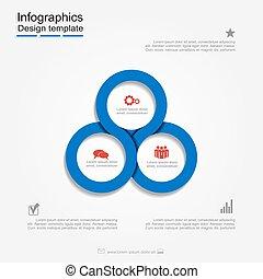 infographic, zameldować, template.