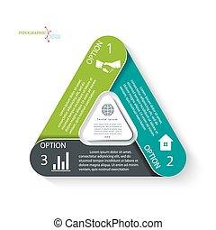 infographic, zijn, concept, zakelijk, web, diagram, presentatie, gebruikt, getallen, mal, design., ontwerp, opties, groenteblik
