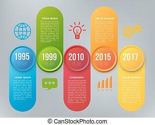 infographics, ステップ, オプション, ∥あるいは∥