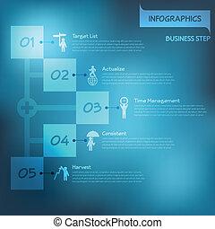 infographics, ステップ, ベクトル, eps10, 成功