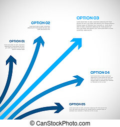 infographics, テンプレート, arrows.