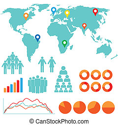 infographics, デザイン, アイコン