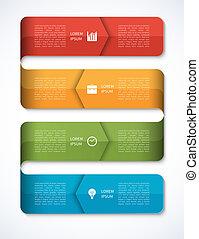 infographics, 現代, template., ビジネス, オプション