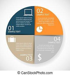 infographics, 원, 종이