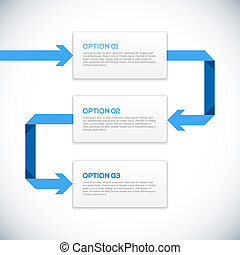 Infographics 3D template with arrows.