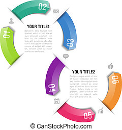 Infographics arrows design template - Fully editable vector