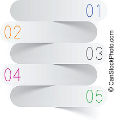 infographics, blanc, papier, design.
