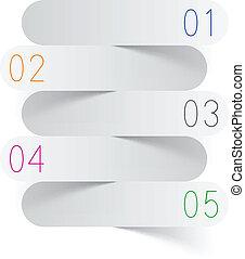 infographics, branca, papel, design.