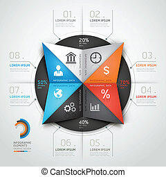 Infographics business triangle.
