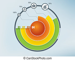 infographics, círculo