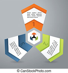 Infographics chart with cool shape