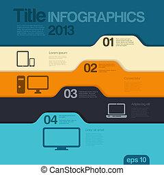 infographics, desenho, template., vector., editable.