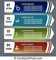infographics design element label