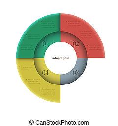 infographics, design, runder , schablone, kreativ
