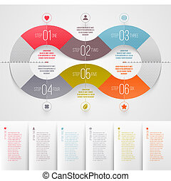 Infographics design template - abstract numbered color paper...