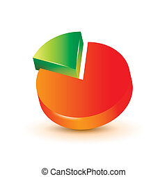 3d pie chart - Infographics elements. 3d pie chart.