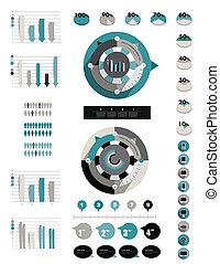 infographics, elements.