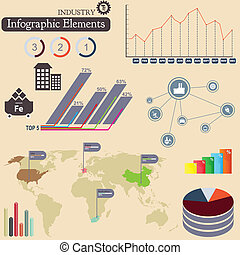 Infographics elements. Industry