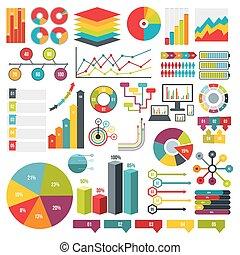 Infographics elements set, flat