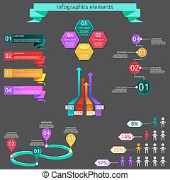 Infographics elements set.
