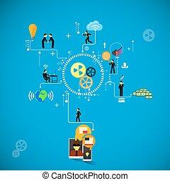 infographics., empresa / negocio