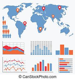infographics, estatísticas, ícones