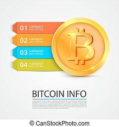 infographics, finanza, affari, bitcoin