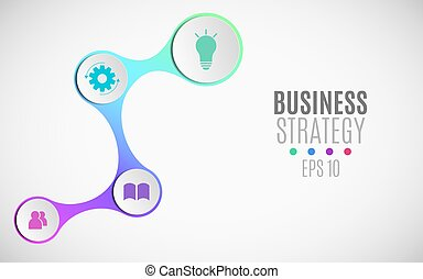 Infographics for business projects. Paper chart in 3d style. Volumetric, paper circles with icons for the web. Business strategy. Vector illustration of a metaball style