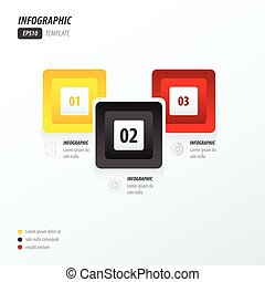 infographics four rounded rectangle yellow, black, red
