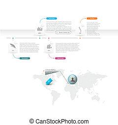 infographics, gabarit, icônes