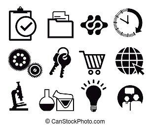 Infographics information icon set