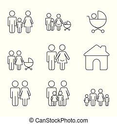 infographics, mal, iconen