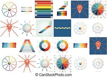infographics, met, tekst, gebied, negen, en, tien, posities