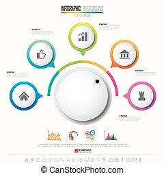 infographics, mettez stylique, gabarit, icônes