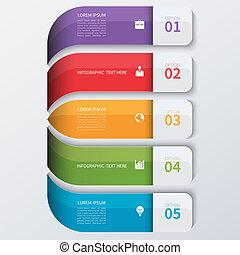 infographics, modern, opciók, ügy, banner.